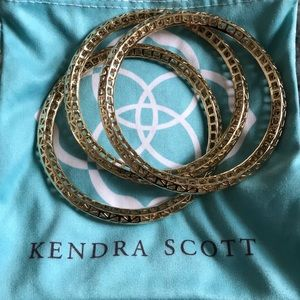 Kendra Scott Bethany Bangles in Gold